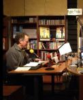 Kim Stafford readin in WhidbeyAIR's Michael Nutt Studio